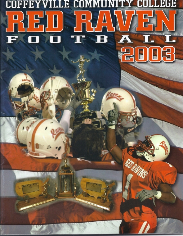 Alternate Front Cover of the 2003 Northeastern Oklahoma A&M Norsemen Vs Coffeyville Football Game Program