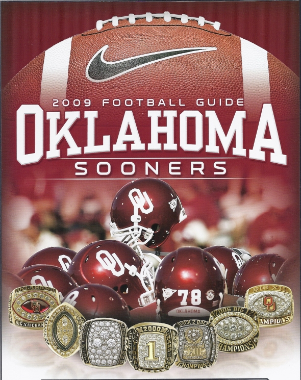 Front Cover of the 2009 Oklahoma Sooners Football Media Guide