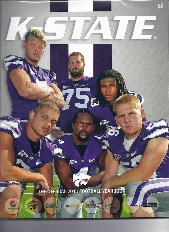 Front Cover of the 2011 Oklahoma Sooners Vs Kansas State Football Game Program