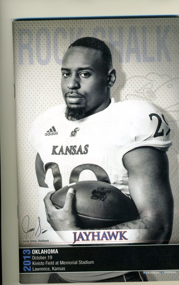Front Cover of the 2013 Oklahoma Sooners Vs Kansas Football Game Program