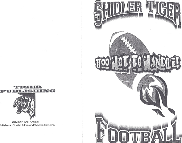 Front Cover of the 1999 Shidler High School Vs White Oak Football Game Program