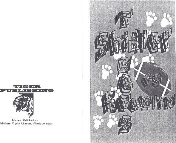 Front Cover of the 1999 Shidler High School Vs Kremlin Hillsdale Football Game Program