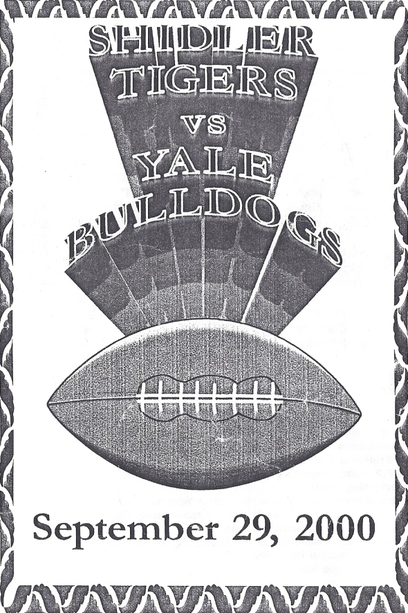 Front Cover of the 2000 Shidler Tigers Vs Yale Football Game Program
