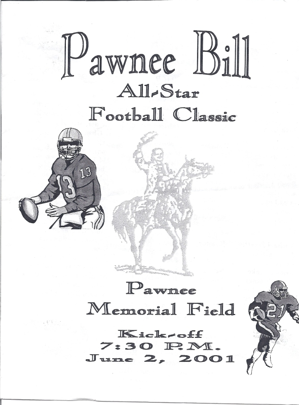 Front Cover of the 2000 Pawnee Bill All-Star Football Classic Program