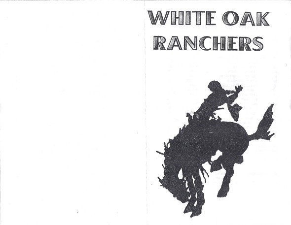 Front Cover of the 2001 Shidler Tigers Vs White Oak Football Game Program