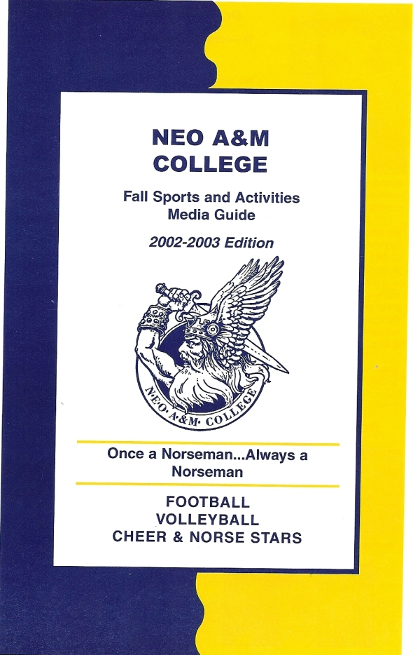 Front Cover of the 2002 Northeastern Oklahoma A&M Norsemen Football Media Guide