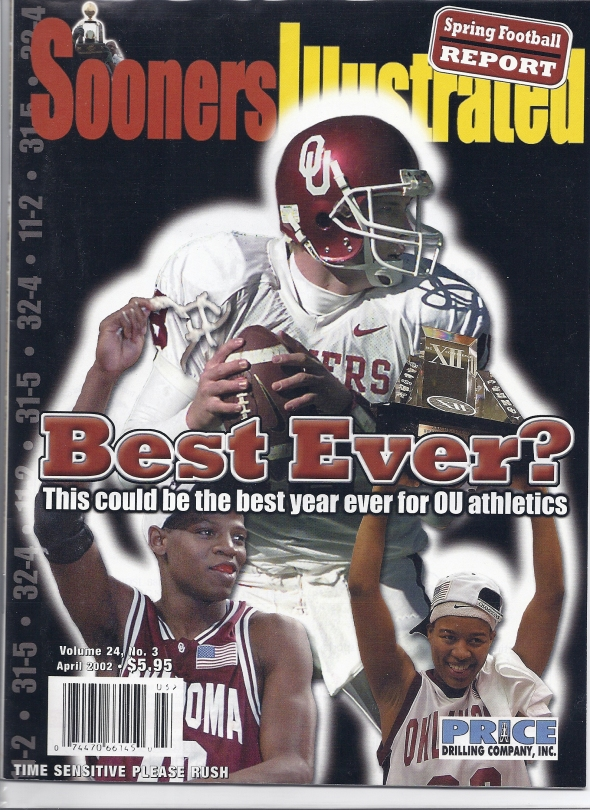 Front Cover of the 2002 Oklahoma Sooners Spring Football Game Program