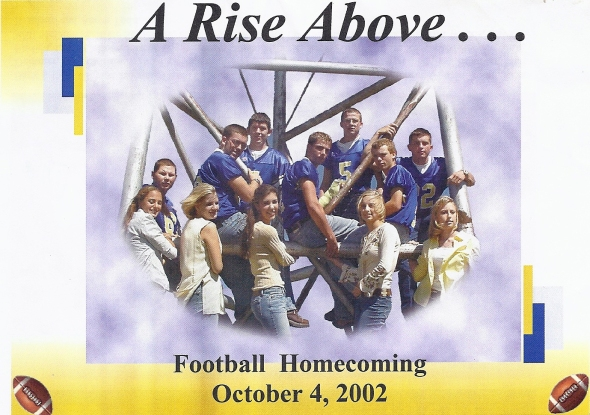 Front Cover of the 2002 Shidler Tigers Vs Waynoka Football Game Program