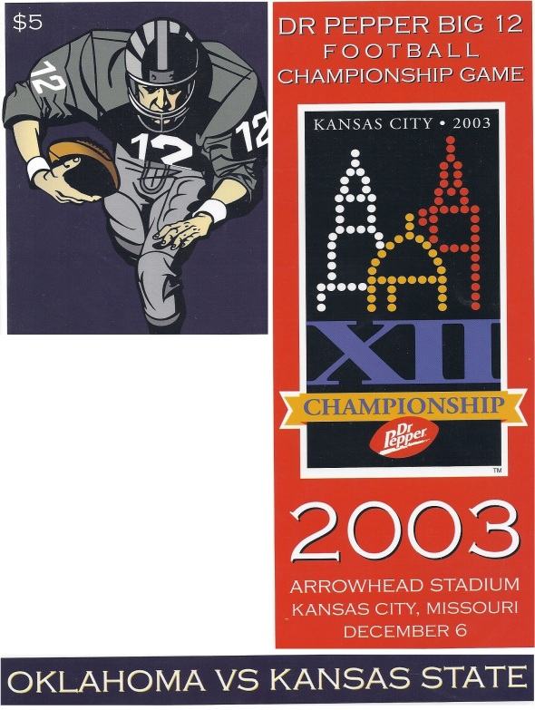 Front Cover of the 2003 Oklahoma Sooners Vs Kansas State Football Game Program