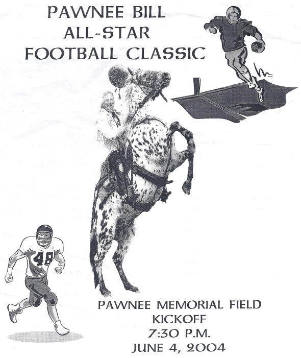 Front Cover of the 2004 Pawnee Bill All-Star Football Classic Program (2003 Season)