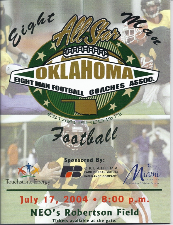 Front Cover of the 2004 Eight Man All-Star Football Program (2003 Season)