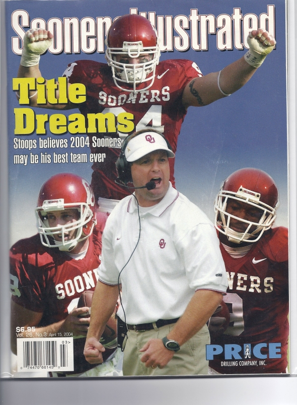 Front Cover of the 2004 Oklahoma Sooners Spring Football Game Program