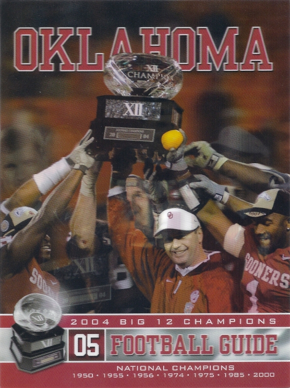 Front Cover of the 2005 Oklahoma Sooners Football Media Guide