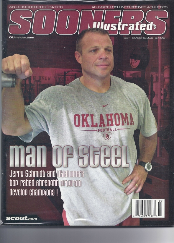 Front Cover of the 2005 Oklahoma Sooners Spring Football Game Program