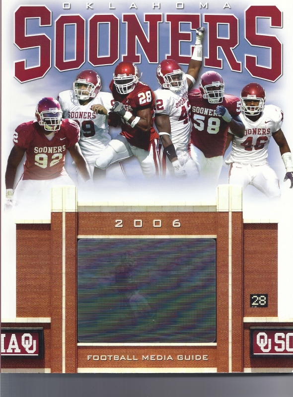 Front Cover of the 2006 Oklahoma Sooners Football Media Guide