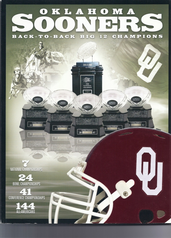 Front Cover of the 2008 Oklahoma Sooners Football Media Guide
